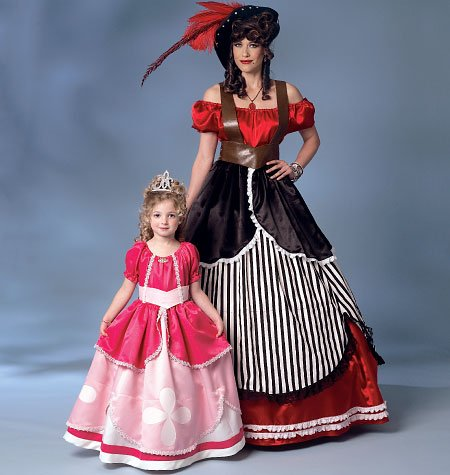[Butterick Patterns B6113 Misses'/Girls' Costume, Size KID] (Colonial Girl Costumes Pattern)