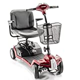 Shoprider ESCAPE 4-Wheel Portable Take Apart Mobility Scooter + Challenger Accessories (RED)