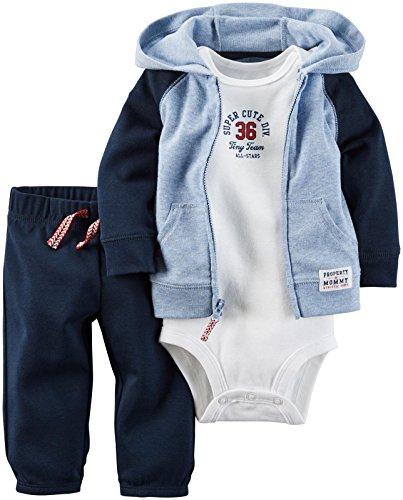 Carter's Baby Boys' 3 Piece Sets, Blue, Dark/Light, Newborn