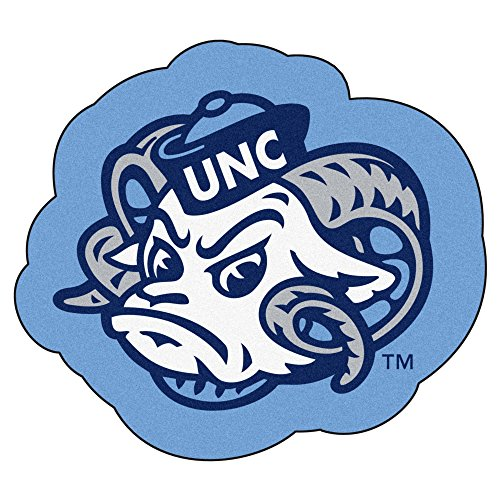 Fan Mats North Carolina Tar Heels Mascot Area Rug ()