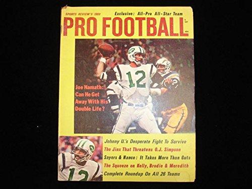 1969 Sports Review's Pro Football Magazine - Joe Namath Cover - (Joe Namath Cover)