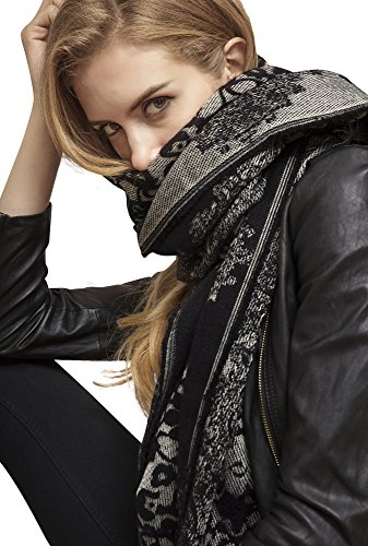 Metrust New Lace Blanket Scarf Plaid Women Checked Shawl Long Scarves Warm Tartan