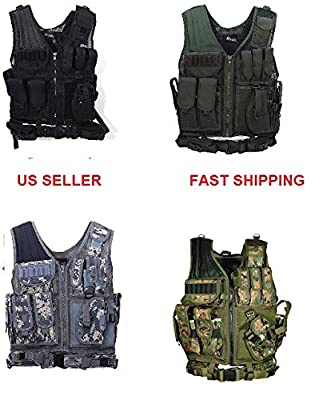 Tactical Outdoor Law Enforcement Tactical Vest Adjustable Adult SWAT Military Police Vest Tactical Outdoor Vest