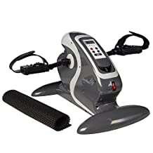 Ivation Fitness Motorized Electric Mini Exercise Bike/Pedal Exerciser With Bonus Mat – Works Both Legs & Arms