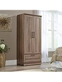 Charmant Sauder 423007 Homeplus Wardrobe, Salt Oak Finish