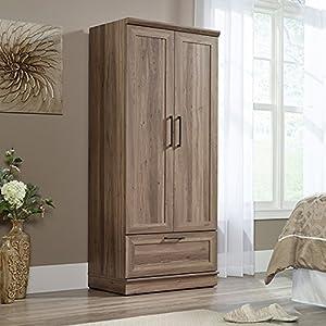 Sauder 423007 Homeplus Wardrobe, L: 29.06″ x W: 20.95″ x H: 71.18″, Salt Oak finish
