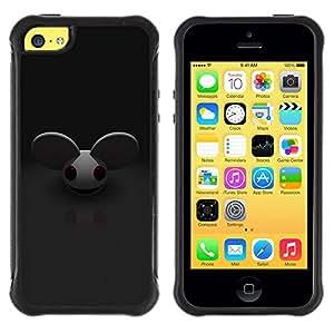 All-Round híbrido Heavy Duty de goma duro caso cubierta protectora Accesorio Generación-II BY RAYDREAMMM - Apple iPhone 5C - Mouse Big Ears Rodent Cartoon Character Cute