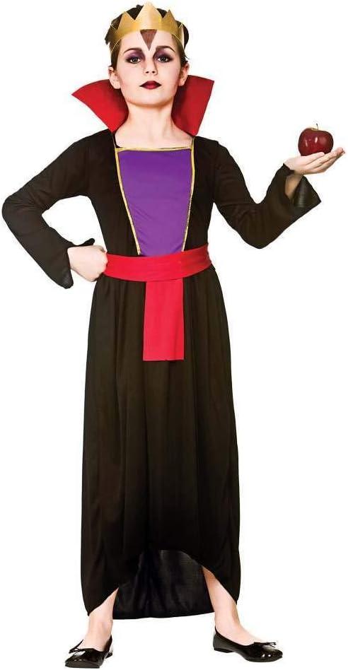 Disfraz de niña de la reina malvado (L 8-10 años): Amazon.es ...