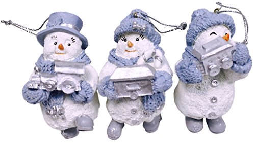 Snow Buddies Flurry Train Engine, Blizzy Boxcar, Powder Caboose - Set of 3 Hanging Ornaments (Snow Buddy)