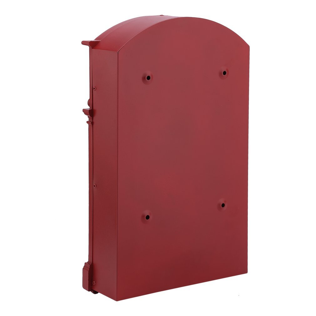 Belovedkai Outdoor Mailbox, Wall Mounted Vintage Mail Box Locking Post Box Secure Letterbox for Home Garden (red) by Belovedkai (Image #5)