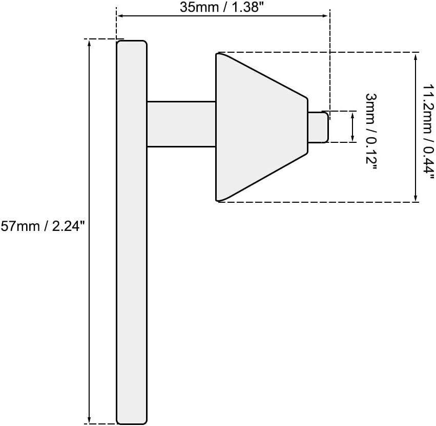Sourcing map Cl/é de mandrin 8 mm 11 dents pour mandrin de perceuse 3-16 mm