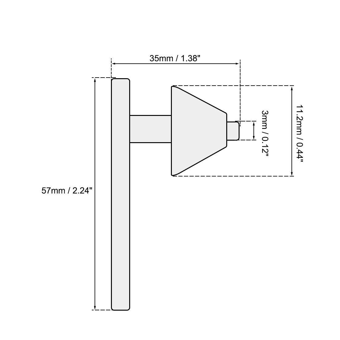 uxcell Chuck Key 8mm Pilot 11 Teeth for 3-16mm Drill Chuck Black