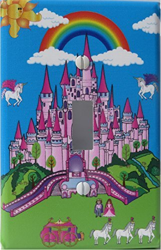 pink castle light switch plate covers single toggle castle wall decor