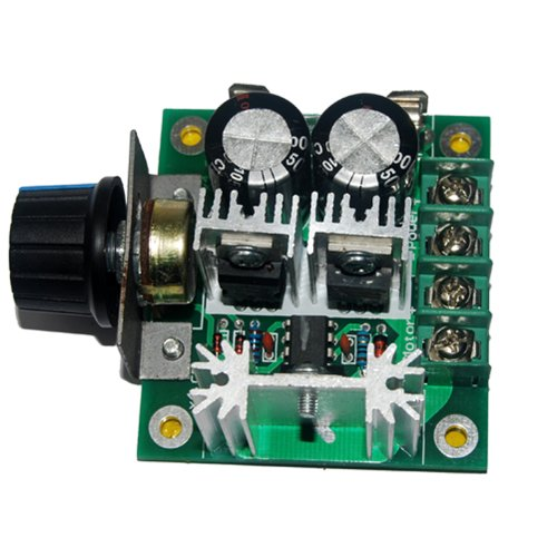 Pulse Width Modulation PWM DC Motor Speed Control Switch Governor 12V-40V 10A Controller w/ Knob--High Efficiency, High Torque, Low Heat Generating with Reverse Polarity Protection, High Current Protection (12 Speed Control)