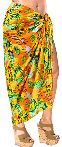 pareo bikini de encubrir traje de baño traje de baño de la playa de baño complejo desgaste envoltura del vestido de la piscina pareo naranja