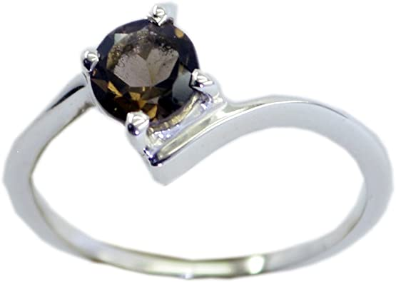 Natural Gemstone Sterling Silver Wedding Rings For Women Handmade Sizes 4 To 12
