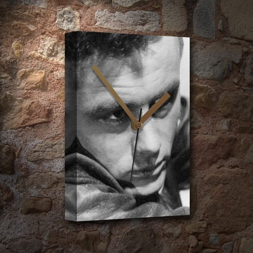 (Seasons James Dean - Canvas Clock (Large A3 - Signed by The Artist) #js003)