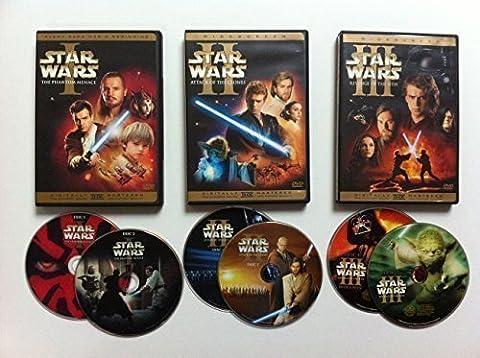 Star Wars Prequel Trilogy Episode I, II, III (6 Disc Widescreen) (Star Wars Widescreen Trilogy)