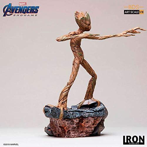 Iron Studios Groot Avengers Endgame Battle, Diorama Series, 1 10 Art Scale Statue