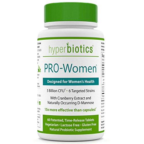 PRO-Women: Probiotics for Women with Cranberry Extract & D-Mannose - 15x More Effective than Probiotic Capsules - 60 Once Daily Time Release Tablets - Supports Urinary Tract - Tract Urinary Acidophilus