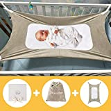 Baby Hammock for Crib, Mimics Womb, Bassinet Hammock Bed, Three-Layer Breathable Supportive Mesh, Upgraded Safety Measures Infant Nursery Bed with Portable Gift Box for Newborn Baby Shower Gift