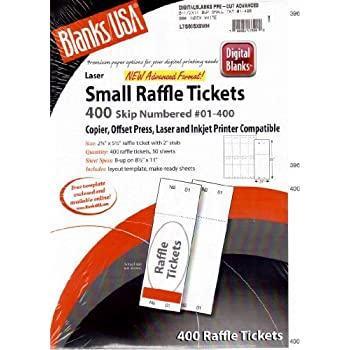 amazon com printable raffle and event tickets 50 sheets 400