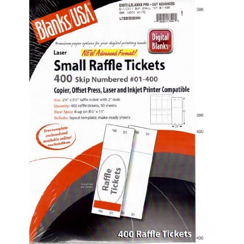 blanksusa small raffle event show 400 ticket printable copier offset press laser