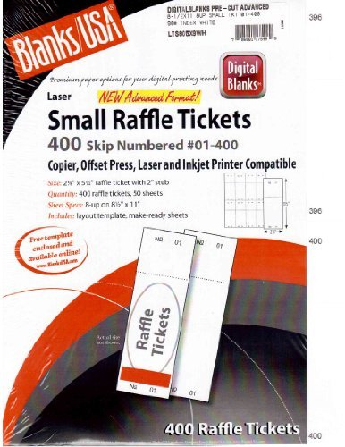 amazon com blanks usa small raffle event show 400 ticket printable