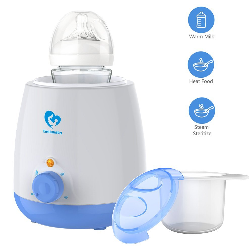 Baby Bottle Warmer, Bellababy 3 in 1 Accurate Temperature Control Electronic Baby Bottle Warmers for Warming Milk, Bottle Steriliser,Boiling Egg, Sterilize, Heating (Blue)