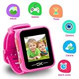 Toys for 3-8 Year Old Girls Pussan Smart Watches for Kids Toddler Watch with Camera USB Charging Best Christmas Birthday Gifts for Kids Smartwatch Kids Watches for Boys Girls VTech Kidizoom Pink