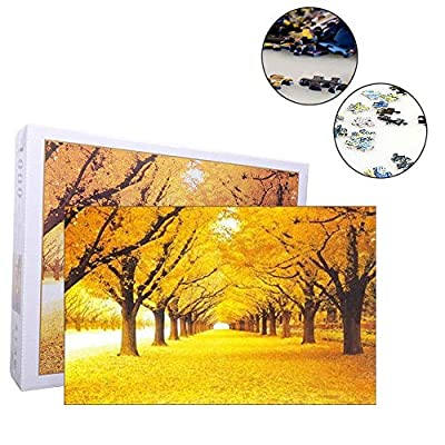 1000 Pieces Jigsaw Puzzles Educational Toy Autumn Leaves Puzzle Toys: Toys & Games