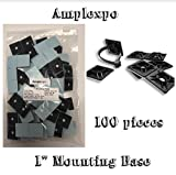 Adhesive Backed Wall Mounting Base (100 pieces per bag) (1 INCH, WHITE)