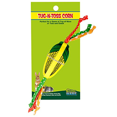 Ware Manufacturing Tug-n-Toss Corn Chew Toy for Small Animals