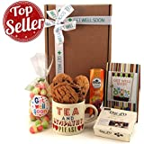 Get Well Soon Gift Hampers - Send a Get Well Tea and Sympathy Sweet Gift for Next Day Delivery - Ideal Get Well Soon and Hospital Gifts with Tea and Gift Mug