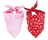 Best Wing Reversible Pet Dog Cat Puppy Bandanna Bibs Triangle Scarf for Small to Large Breed (L)