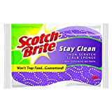 Scotch-Brite Stay Clean Non-Scratch Scrub Sponge, 12-Sponges