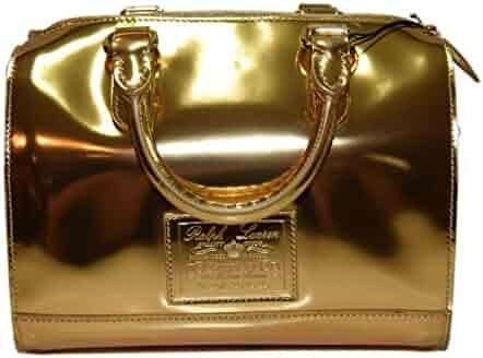 Polo Ralph Lauren Collection Proprietor Womens Leather Handbag Bag Gold  Italy 689587936e38c