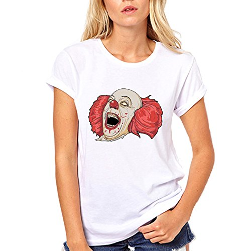 Evil Clown Creepy Halloween T Shirt Costume Funny Gift For Nerd Joker T-Shirt X-Large Red for $<!--$16.95-->