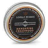 Lovely Beards Natural Beard Balm Leave-In Conditioner & Softener, Handmade In The USA, On Social Media, Best for Groomed Beard Growth, Mustache & Face, Mandarin & Cedarwood Scent