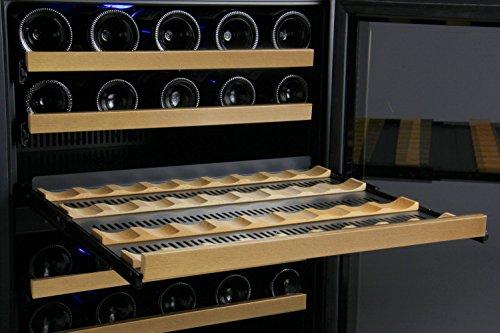 Allavino FlexCount 2X-VSWR56-1BWT 112 Bottle Dual Zone Wine Coolers - Side by Side - Black Doors by Allavino (Image #5)
