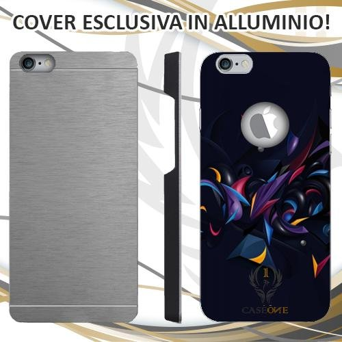 CUSTODIA COVER CASE ABSTRACT RAY PER IPHONE 6 6S IN ALLUMINIO