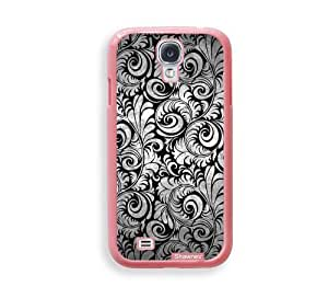 Cool Painting Shawnex Black Lace ThinShell Protective Pink Plastic Samsung Galaxy S4 Case - Galaxy i9500 Case Snap On Case