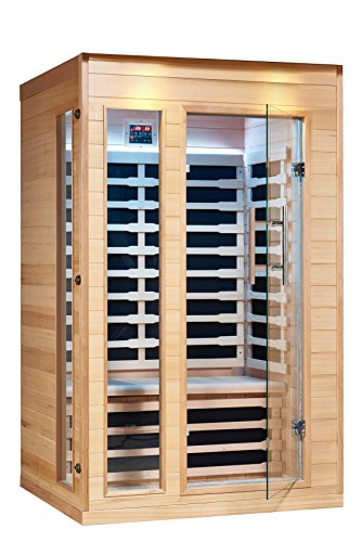 Royal Saunas 2 Persons Far Infrared Hemlock Saunas w/5 Low EMF Nano Carbon Mica Heaters