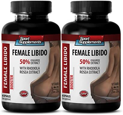 Female Sexual Wellness – Female LIBIDO Booster – Dietary Supplement – tongkat ali and Fenugreek – 2 Bottles 120 Capsules