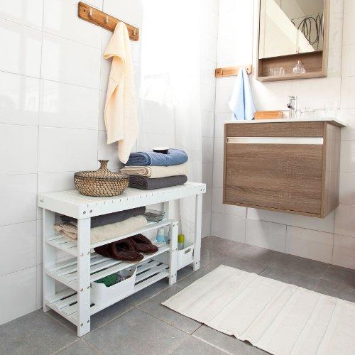 sobuy scarpiera di bamb scaffale da bagno scarpiera per stivali fsr15 l w it amazonit casa e cucina