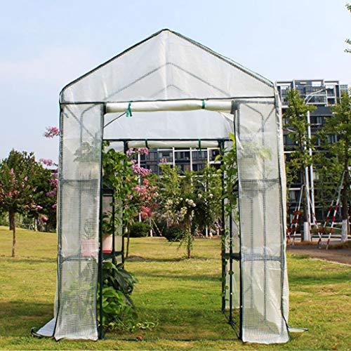 XY&CF-Flower house Plant Greenhouse PE mesh Cloth All Steel Skeleton Double Door Greenhouse Garden (140140195cm) (Color : A) (Door Greenhouse Double)