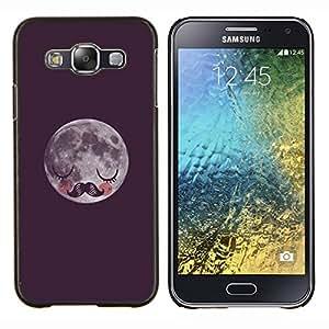Dragon Case - FOR Samsung Galaxy E5 E500 - vignette moon moustache sleeping - Caja protectora de pl??stico duro de la cubierta Dise?¡Ào Slim Fit