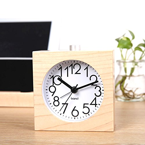 BELKA Clear Face Alarm Clock Mid-Century - Maple Vintage Desk Shopping Results