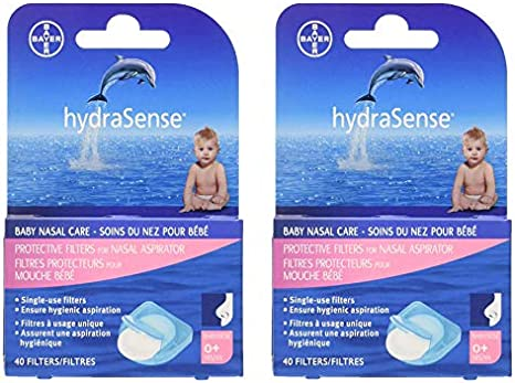 Single-Use 40 Count /… Baby Nasal Care 2 Pack hydraSense Protective Filters for Nasal Aspirator