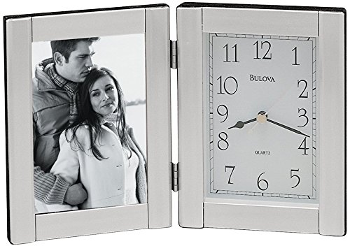 Forte I Picture Frame with Clock Color: Brushed Aluminum